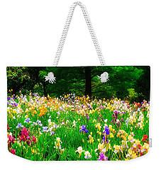 Field Of Iris Weekender Tote Bag