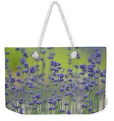 Field Of Lavender Flowers Weekender Tote Bag by P S