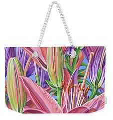 Field Of Lilies Weekender Tote Bag