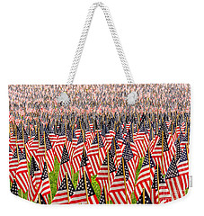 Field Of Us Flags Weekender Tote Bag