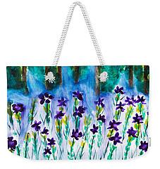 Field Of Violets Weekender Tote Bag
