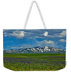 Field Of Wildflowers Weekender Tote Bag by Don Schwartz