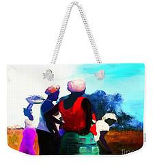 Weekender Tote Bag featuring the painting Field Women by Vannetta Ferguson