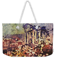 Fields Of Flower- And Roman Temple Weekender Tote Bag