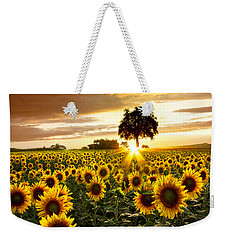 Fields Of Gold Weekender Tote Bag by Debra and Dave Vanderlaan