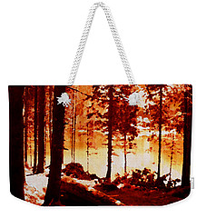 Fiery Red Landscape Weekender Tote Bag