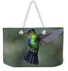 Fiery-throated Hummingbird..  Weekender Tote Bag