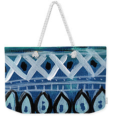Fiesta In Blue- Colorful Pattern Painting Weekender Tote Bag