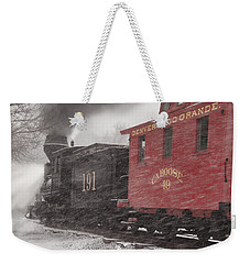 Fighting Through The Winter Storm Weekender Tote Bag