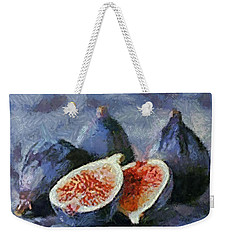 Weekender Tote Bag featuring the painting Figs by Dragica  Micki Fortuna