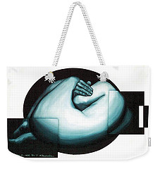 Weekender Tote Bag featuring the painting Figure Untitled No.6 by Fei A