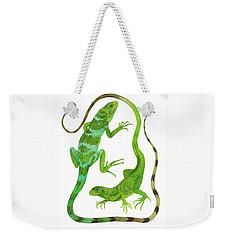 Fijian Iguanas Weekender Tote Bag by Cindy Hitchcock