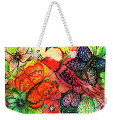 Weekender Tote Bag featuring the painting Finding Sanctuary by Hazel Holland