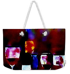 Weekender Tote Bag featuring the painting Fine Art Dusty Treasure by Lisa Kaiser