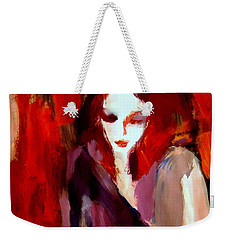 Weekender Tote Bag featuring the painting Finesse by Helena Wierzbicki
