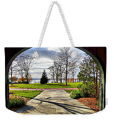 Weekender Tote Bag featuring the photograph Finger Lakes View From Mackenzie Childs  by Mitchell R Grosky