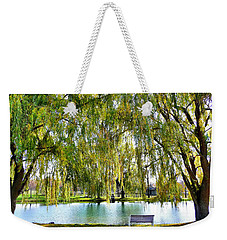 Weekender Tote Bag featuring the photograph Finger Lakes Weeping Willows by Mitchell R Grosky