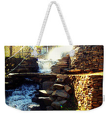 Weekender Tote Bag featuring the photograph Finlay Park Fountain by Lisa Wooten