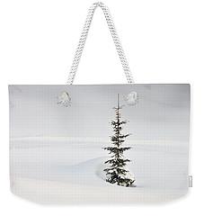 Fir Tree And Lots Of Snow In Winter Kleinwalsertal Austria Weekender Tote Bag