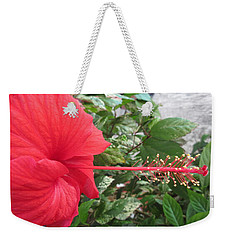 Fire And Ice Hibiscus Weekender Tote Bag