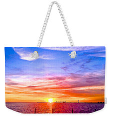 Fire And Water Weekender Tote Bag by Dee Dee  Whittle