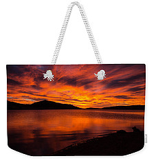 Fire At Dawn Weekender Tote Bag
