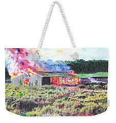 Fire At Whitney Beef Weekender Tote Bag
