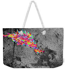 Fire Breathing Man On Skid Row Weekender Tote Bag