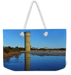 Fire Control Tower 3 Icy Reflection Weekender Tote Bag