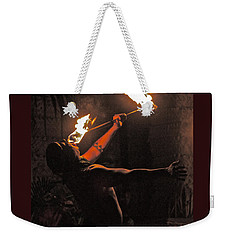 Fire Dancer Weekender Tote Bag