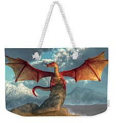 Fire Dragon Weekender Tote Bag by Daniel Eskridge