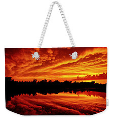 Fire In The Sky Weekender Tote Bag by Jason Politte