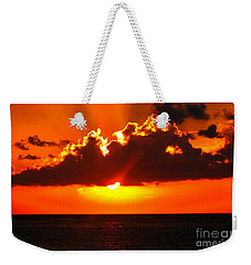 Fire In The Sky Weekender Tote Bag by Patti Whitten