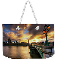 Fire In The Sky Weekender Tote Bag by Yhun Suarez