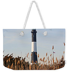 Weekender Tote Bag featuring the photograph Fire Island Tower by Karen Silvestri