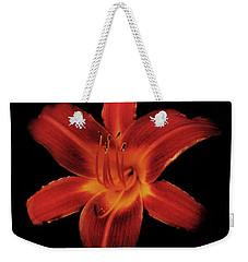 Fire Lily Weekender Tote Bag