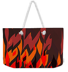 Weekender Tote Bag featuring the digital art Fire by Mary Bedy