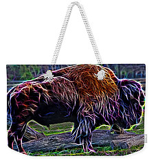 Fire Of A Bison  Weekender Tote Bag by Miroslava Jurcik