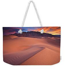 Fire On Mesquite Dunes Weekender Tote Bag