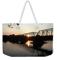 Fire On The Water Weekender Tote Bag