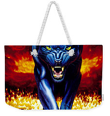 Fire Panther Weekender Tote Bag by MGL Studio - Chris Hiett