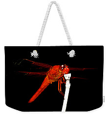 Weekender Tote Bag featuring the photograph Fire Red Dragon by Peggy Franz