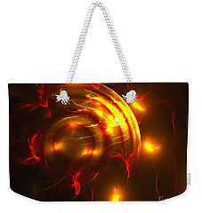 Weekender Tote Bag featuring the digital art Fire Storm by Victoria Harrington