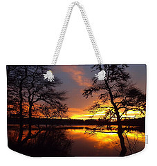Weekender Tote Bag featuring the photograph Sunrise Fire by Dianne Cowen
