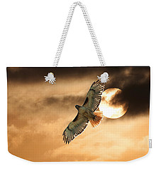 Weekender Tote Bag featuring the photograph Firebird by Jim Garrison