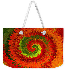 Fireburst Extrusion Weekender Tote Bag by Ellen Tully