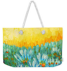 Weekender Tote Bag featuring the painting Firelight by Holly Carmichael