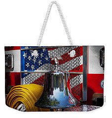 Fireman - Red Hot  Weekender Tote Bag by Mike Savad