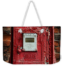 Fireman - The Fire Alarm Box Weekender Tote Bag by Paul Ward