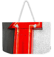 Firestone Building Red Neon T Weekender Tote Bag
